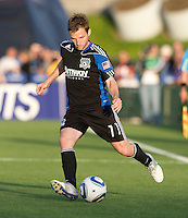 Bobby Convey of the Earthquakes in action during the game against the Crew at Buck Shaw Stadium in Santa Clara, California on June 2nd, 2010.  San Jose Earthquakes tied Columbus Crew, 2-2.