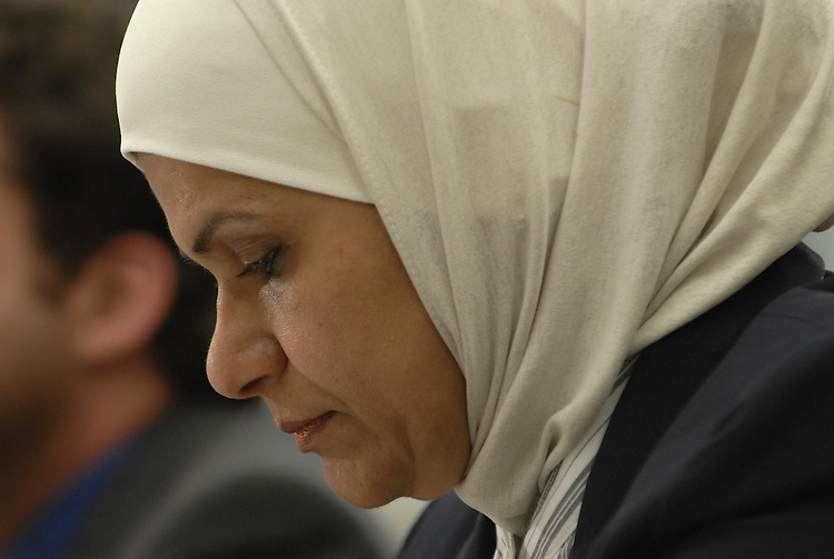 Faiza al-Arji, testified about her family's experiences in Iraq before and during the war and subsequent occupation of her country during a forum on how to end the war in Iraq.