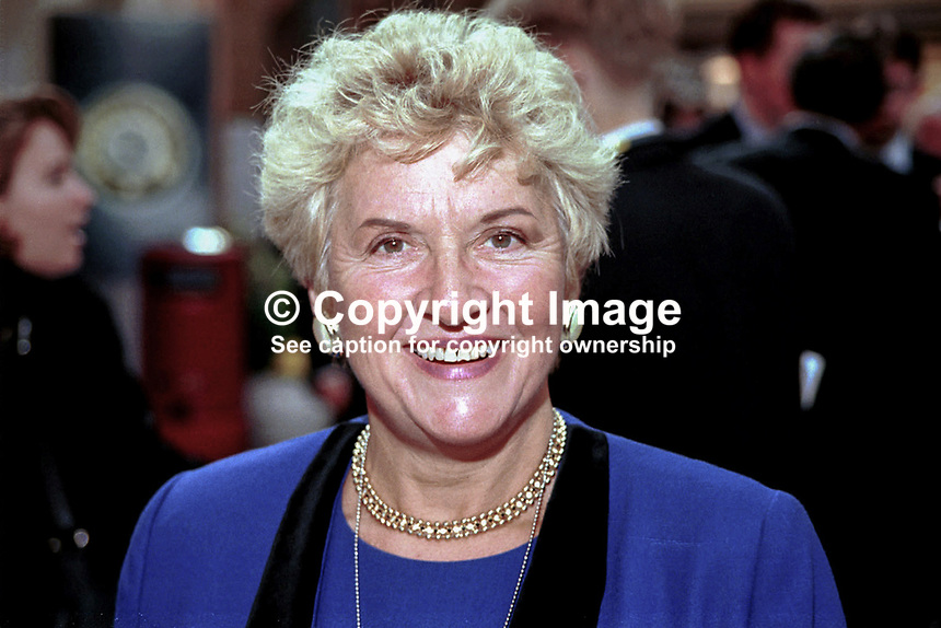 Teresa Gorman, MP, Conservative Party, Britain, UK, Ref:199710247. Taken at Conservative Conference in Winter Garden, Blackpool..Copyright Image from Victor Patterson, 54 Dorchester Park, Belfast, UK, BT9 6RJ..Tel: +44 28 9066 1296.Mob: +44 7802 353836.Voicemail +44 20 8816 7153.Skype: victorpattersonbelfast.Email: victorpatterson@mac.com.Email: victorpatterson@ireland.com (back-up)..IMPORTANT: If you wish to use this image or any other of my images please go to www.victorpatterson.com and click on the Terms & Conditions. Then contact me by email or phone with the reference number(s) of the image(s) concerned.