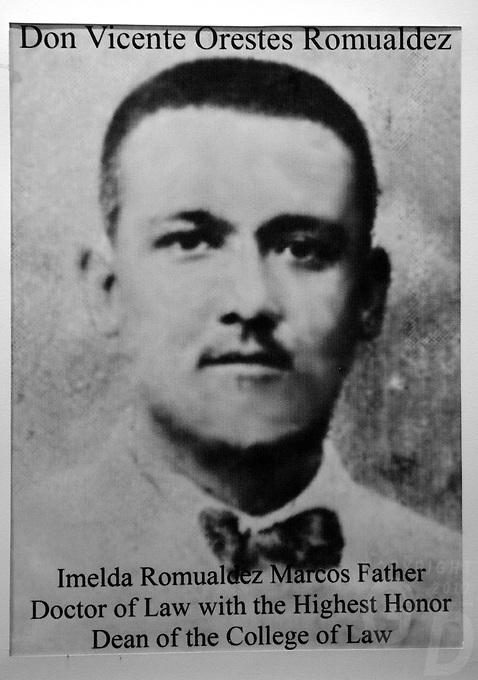 Imelda Marcos, old photo of Imeldas father
