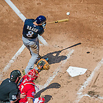 23 August 2015: Milwaukee Brewers outfielder Ryan Braun in action against the Washington Nationals at Nationals Park in Washington, DC. The Nationals defeated the Brewers 9-5 in the third game of their 3-game weekend series. Mandatory Credit: Ed Wolfstein Photo *** RAW (NEF) Image File Available ***