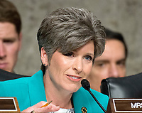 United States Senator Joni Ernst (Republican of Iowa) questions US Department of Defense appointees as they testify on their respective nominations before the US Senate Armed Services Committee on Capitol Hill in Washington, DC on May 9, 2017.<br /> Credit: Ron Sachs / CNP /MediaPunch