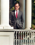 President George H.W. Bush stands in between pillars Washington DC, Fine Art Photography by Ron Bennett, Fine Art, Fine Art photography, Art Photography, Copyright RonBennettPhotography.com ©