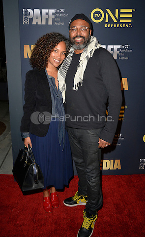 LOS ANGELES, CA- FEBRUARY 15: Mara Brock Akil, Salim Akil at the &quot;Media&quot; Movie Premiere at the Pan African Film Festival at Cinemark Baldwin Hills in Los Angeles, California on February15, 2017. <br /> Credit: Koi Sojer/Snap'N U Photos/MediaPunch
