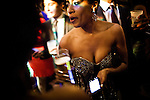 Attendees at the Hip-Hop Inaugural Ball enjoy drinks, January 20, 2013 in Washington, DC.
