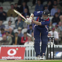 09/07/2002 - Tue.Sport - Cricket-  NatWest Series - Eng vs India Oval.England batting  Nick Knight ..
