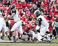 The Georgia Bulldogs beat the App State Mountaineers 45-6 in their homecoming game.  After a close first half, UGA scored 31 unanswered points in the second half.  Appalachian State Mountaineers quarterback Kameron Bryant (5)