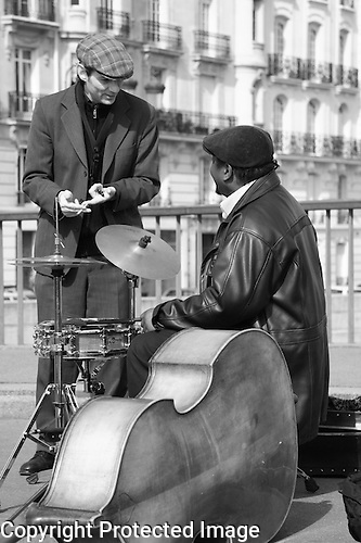 Jazz Musicians on Pont St-Loius Bridge, Paris