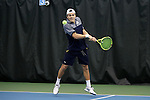 27 January 2017: Notre Dame's Ryan Kempin. The University of North Carolina Tar Heels hosted the University of Notre Dame Fighting Irish at the Cone-enfield Tennis Center in Chapel Hill, North Carolina in the first round of the Intercollegiate Tennis Association Men's Indoor Team Championship. North Carolina won the match 4-0.