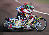 Heat 5 - Adams (green), Kasprzak (red) - Lakeside Hammers vs Swindon Robins - Sky Sports Elite League at Arena Essex, Purfleet - 17/08/07  - MANDATORY CREDIT: Gavin Ellis/TGSPHOTO - SELF-BILLING APPLIES WHERE APPROPRIATE. NO UNPAID USE. TEL: 0845 094 6026..