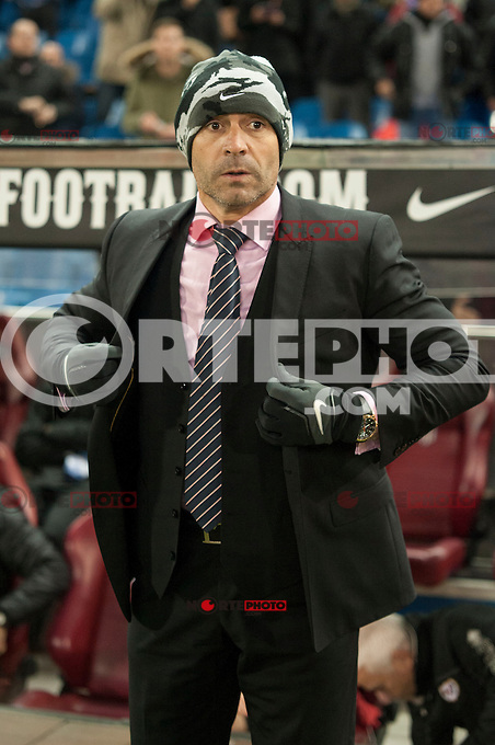 Atletico de Madrid&acute;s -- and Rayo Vallecano&acute;s -- during 2014-15 La Liga match between Atletico de Madrid and Rayo Vallecano at Vicente Calderon stadium in Madrid, Spain. January 24, 2015. (ALTERPHOTOS/Luis Fernandez) /NortePhoto<br />