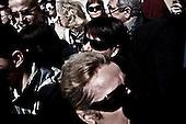 Krakow 18/04/2010 Poland<br /> People mourning the tragic death of President Lech Kaczynski and his wife in Krakow before funeral.<br /> on pictures: The crowd alternated between solemn hymns and defiant clapping every time the tragedy at Katyn was invoked<br /> Photo: Adam Lach / Napo Images for The New York Times<br /> <br /> Zaloba po tragicznej smierci Prezydenta Lecha Kaczynskiego i jego malzonki w Krakowie przed pogrzebem.<br /> Fot: Adam Lach / Napo Images for The New York Times