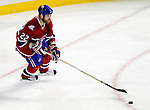 15 October 2009: Montreal Canadiens defenseman Paul Mara in action against the Colorado Avalanche at the Bell Centre in Montreal, Quebec, Canada. The Avalanche edged out the Habs 3-2 in Montreal's season home opener. Mandatory Credit: Ed Wolfstein Photo