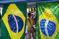 Brazilians and visitors celebrate at the 28th Annual Brazil Day Festival in New York on Sunday, September 2, 2012.  The festival, which features food, music and other aspects of Brazilian culture, centers around West 46th Street in Midtown Manhattan, known as Little Brazil. (© Frances M. Roberts)