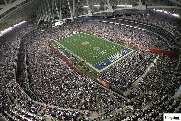 NFL Football: Super Bowl XLII: New York Giants vs. New England Patriots.panoramic photo of Super Bowl XLII.Glendale, AZ.03-FEB-2008.X79510 TK1.CREDIT: Gene Lower