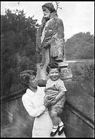 BNPS.co.uk (01202 558833)<br /> Pic: Pen&amp;Sword/BNPS<br /> <br /> When this picture was taken in the garden at Glencot, Colin was eighteen months old.<br /> <br /> he remarkable story of a British hero double amputee pilot who took to the skies during the Second World War has come to light.<br /> <br /> Flight Lieutenant Colin Hodgkinson lost his legs in a horror crash in a Tiger Moth in May 1939 but went on to emulate Sir Douglas Bader and fly Spitfires in the Royal Air Force.<br /> <br /> He even endured a spell in the Great Escape prisoner of war camp after being shot down over France in 1943 but rejoined the RAF after being repatriated.<br /> <br /> The pair were the only two British double amputee pilots to fly during the war - yet while Bader, rightly, is a household name, Flt Lt Hodgkinson's exploits have been largely forgotten.<br /> <br /> This has prompted historian Mark Hillier to publish Flt Lt Hodgkinson's autobiography 60 years after it was penned which he hopes will shine some limelight on a 'special' man whose courage he says was every bit as great as Baders'.<br /> <br /> Best Foot Forward, by Colin Hodgkinson, is published by Pen &amp; Sword.