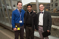 Student Clinician Ceremony. Sean Ackerman, M.D., from left, Sanchit Maruti, M.D., Steve Runyan, M.D.