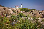Cape Neddick (Nubble) Light, 1879, York, Cape Neddick, Southern Maine Coast, ME