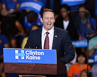 MIAMI GARDENS, FL - OCTOBER 20: U.S. Congressman Patrick Murphy campaigns for Democratic Presidential Candidate Hillary Clinton at Florida Memorial University Multi Purpose & Wellness Center on October 20, 2016 in Miami Gardens, Florida.