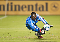 CARSON, CA – September 9, 2011: LA Galaxy goalie Donovan Ricketts (1) during the match between LA Galaxy and Colorado Rapids at the Home Depot Center in Carson, California. Final score LA Galaxy 1, Colorado Rapids 0.