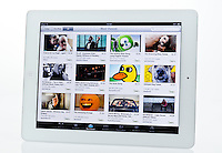 Apple Ipad showing Youtube Website  - Jan 2013.