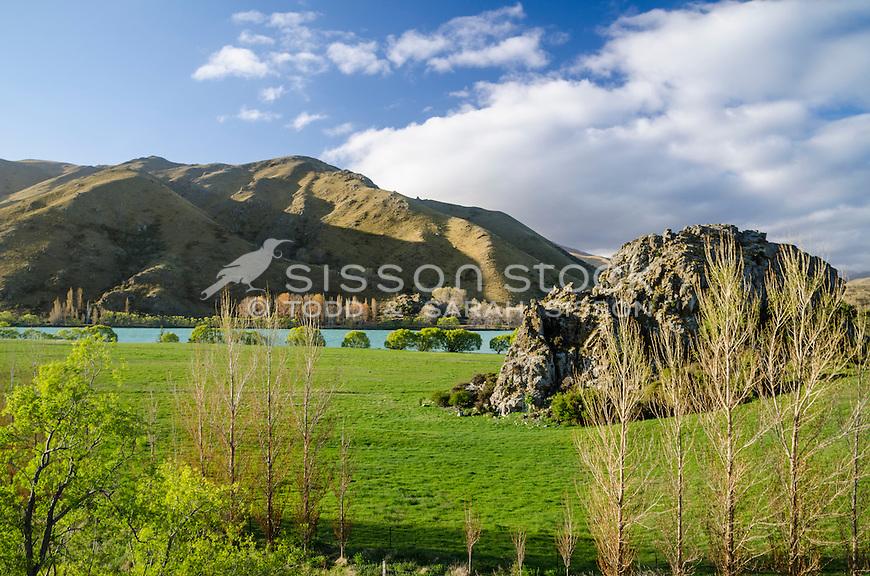 Waitaki Valley, North Otago, New Zealand - stock photo, canvas, fine art prints
