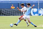 14 December 2008: UNC's Michael Callahan (right) and Maryland's Doug Rodkey (left). The University of Maryland Terrapins defeated the University of North Carolina Tar Heels 1-0 at Pizza Hut Park in Frisco, TX in the championship game of the 2008 NCAA Division I Men's College Cup.