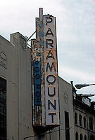 "Movie Theatre: Boston--Paramount Marquee, 1930-32. ""Boston's Best Art Deco Theater""... A.I.A. Arthur Bowditch.  Photo '91."