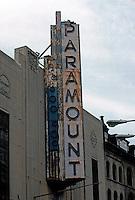 "Movie Theatre: Boston--Paramount Marquee, 1930-32. ""Boston's Best Art Deco Theater""... A.I.A. Arthur Bowditch.  Photo '91."