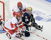 Joe Pereira (BU - 6), David Warsofsky (BU - 5), Kyle Palmieri (Notre Dame - 10) - The University of Notre Dame Fighting Irish defeated the Boston University Terriers 3-0 on Tuesday, October 20, 2009, at Agganis Arena in Boston, Massachusetts.
