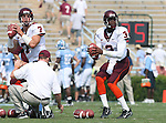 09 September 2006: Virginia Tech quarterbacks Sean Glennon (7) and Ike Whitaker (3) before the game. The University of North Carolina Tarheels lost 35-10 to the Virginia Tech Hokies at Kenan Stadium in Chapel Hill, North Carolina in an Atlantic Coast Conference NCAA Division I College Football game.