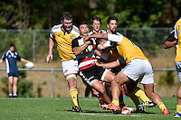 Action from the Rugby - Hurricanes Development v Crusaders Knights at Porirua Park, Porirua, New Zealand on Thursday 5 March 2015. <br /> Photo by Masanori Udagawa. <br /> www.photowellington.photoshelter.com.