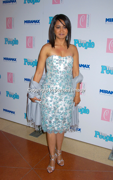 "Parminder Nagra ..at The Premiere of ""Ella Enchanted""  on March 28, 2004 ..at the Clearview Beekman Theatre in New York City. ..Photo by Robin Platzer, Twin Images"