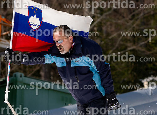 Flag barrier during Flying Hill Individual Trial Round at 3rd day of FIS Ski Flying World Championships Planica 2010, on March 20, 2010, Planica, Slovenia.  (Photo by Vid Ponikvar / Sportida)