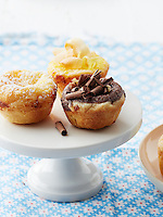 Buttermilk, Chocolate and Lemon-Coconut Chess Tarts