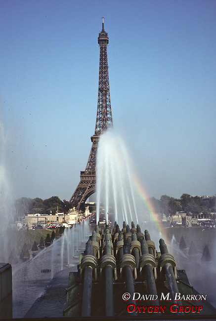 Eiffel Tower & Canons Shooting Water