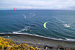 Dallas Road in Victoria, B.C. offers nature in the city and is a launch site for wind and kite surfers and offers public outdoor space for walking and riding bikes or taking scooters for a ride.