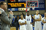 UK Hoops coach Matthew Mitchell giving a speech after becoming the winningest coach in UK history during the second half of the women's basketball game vs. Tennessee at Memorial Coliseum on Sunday, March 3, 2013, in Lexington, Ky. Photo by Kalyn Bradford | Staff