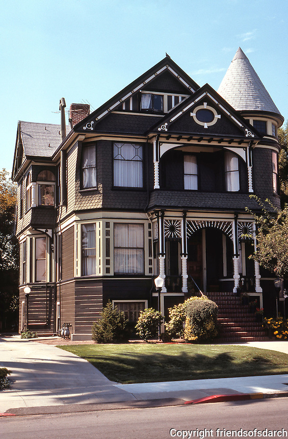 Alameda CA:  Eastlake-Queen Anne, Union St., 1890.  Photo '78.