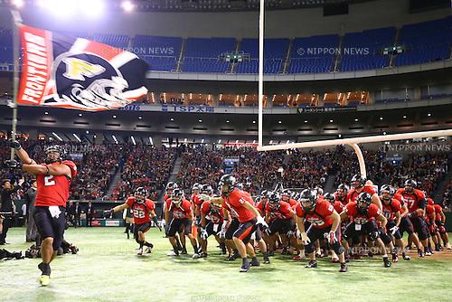 Panasonic Impulse team group (),<br /> DECEMBER 14, 2015 - American Football : <br /> The 29th Japan American Football Championship<br /> &quot;Japan X Bowl 29&quot; <br /> between Panasonic Impulse 24-21 Fujitsu Frontiers <br /> at Tokyo Dome, Tokyo, Japan. <br /> (Photo by Shingo Ito/AFLO SPORT)