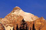 Morning light on the south face of Mount Athabasca, Columbia Icefields area, Jasper National Park, Alberta, Canada.