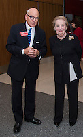 "Washington DC,September 7, 2016, USA: John Gray, the Director of the National Museum of American History chats with former Secetary of State, Madeleine K. Albright before the ceremony where she was presented with the its'  inaugural ""Great Americans"" award in Washington DC.   Photo by Patsy Lynch/MediaPunch"
