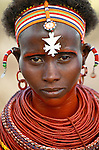 Portrait of a Samburu woman, Kenya