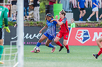 Boston, MA - Friday May 19, 2017: Margaret Purce and Meghan Klingenberg during a regular season National Women's Soccer League (NWSL) match between the Boston Breakers and the Portland Thorns FC at Jordan Field.