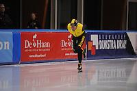 SCHAATSEN: LEEUWARDEN, 22-10-2016, Elfstedenhal,  KNSB Trainingswedstrijden, Douwe de Vries, ©foto Martin de Jong