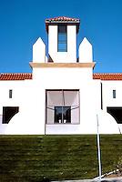 Michael Graves: San Juan Capistrano Library. Elevation detail.  Photo '86.