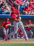 9 March 2014: St. Louis Cardinals first baseman Allen Craig hits an RBI single during a Spring Training game against the Washington Nationals at Space Coast Stadium in Viera, Florida. The Nationals defeated the Cardinals 11-1 in Grapefruit League play. Mandatory Credit: Ed Wolfstein Photo *** RAW (NEF) Image File Available ***