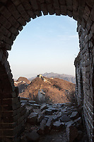 The view toward the Great Wall at Jiankou from a crumbling tower.
