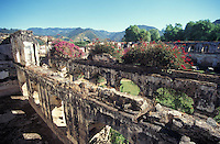 The ruins of the San Francisco Monastery or Convento de San Francisco el Grande in the Spanish Colonial city of Antigua, Guatemala