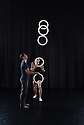 London, UK. 15.09.2014. Gandini Juggling, 4 x 4 Ephemeral Architecture, Creation Studio, NCCA (Circus Space), Hoxton. Directed and devised by Sean Gandini, choreographed by Ludovic Ondiviela. Picture shows: Owen Reynolds (juggler) and Joe Bishop (dancer). Photograph © Jane Hobson.